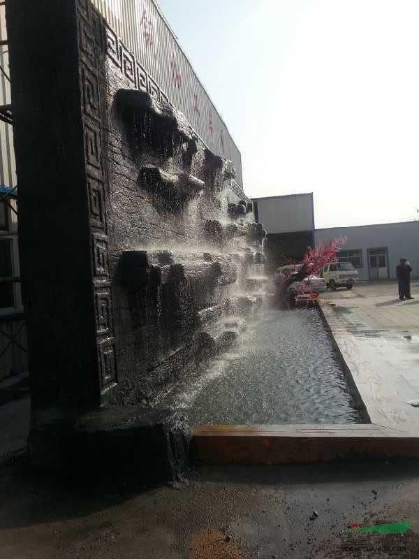 防千层石水幕墙 - - 园林小品供应 - 中国园林资材网;